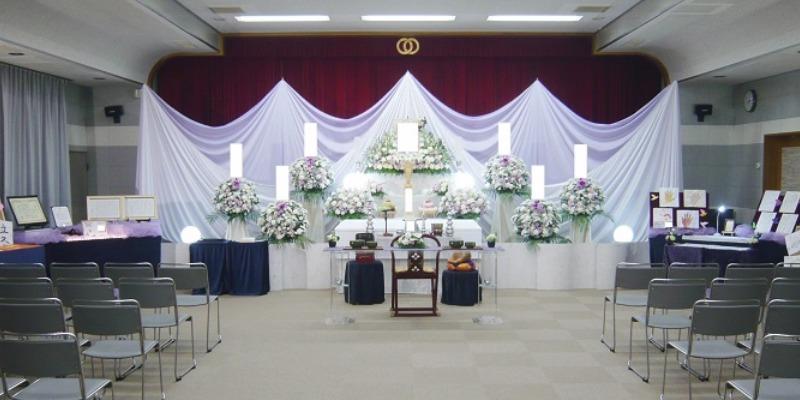 常楽院ホール 祭壇施行画像