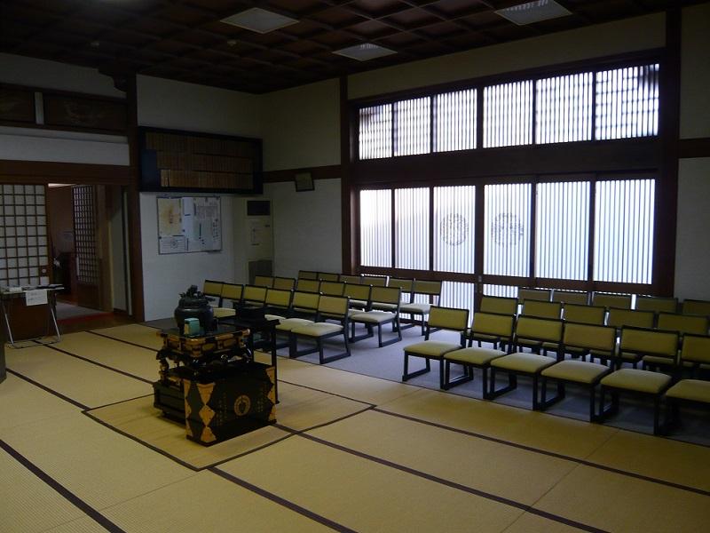 應善寺 式場内風景