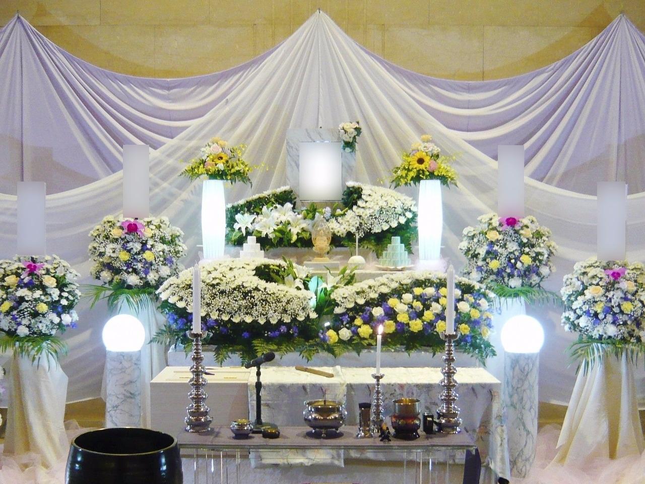 家族葬ECO《プラス》プラン祭壇画像