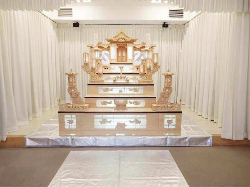 白木祭壇(袖あり)