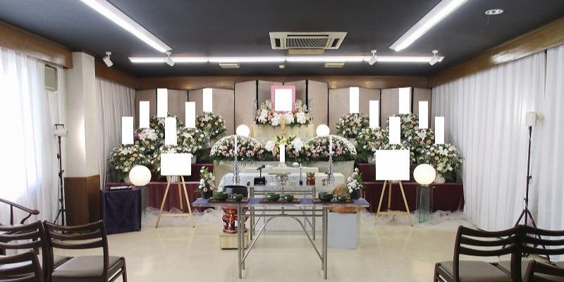 寶亀閣斎場 祭壇施行画像