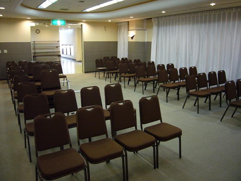 区民斎場 やすらぎ会館 式場内風景②