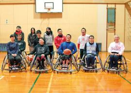 富山県車椅子バスケットボールクラブのメンバー