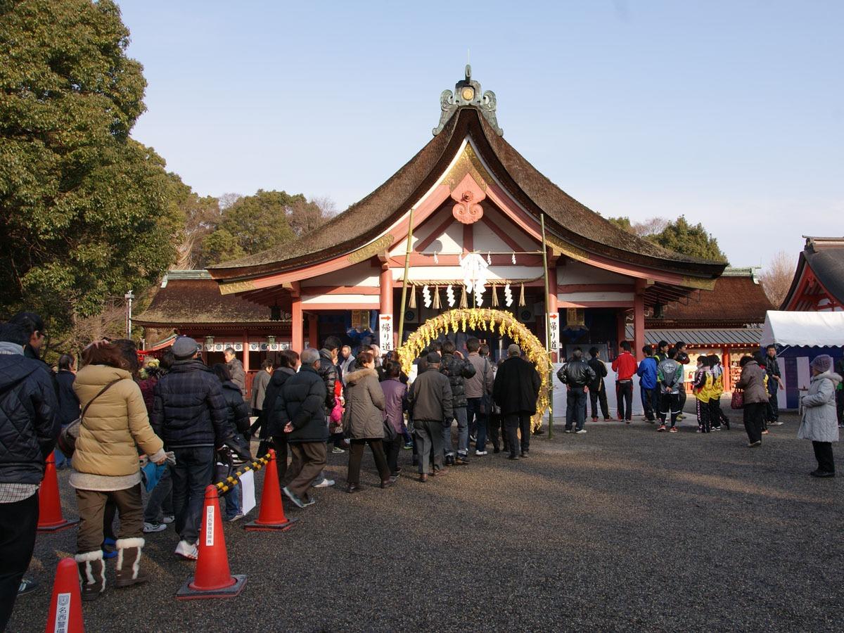津島市 和魂社例祭(茅の輪くぐり)