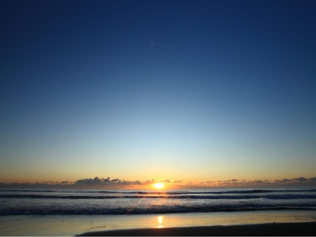 九十九里浜の初日の出