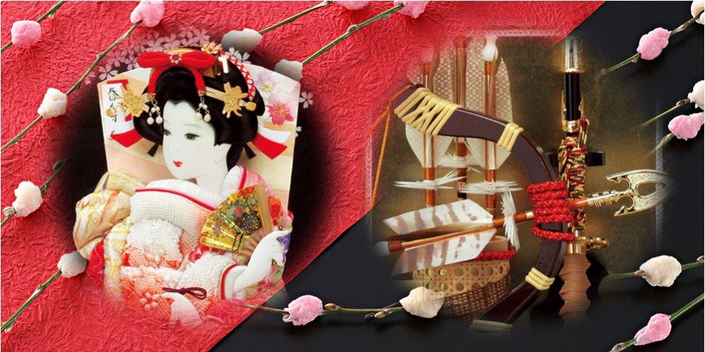 正月飾り(羽子板・破魔弓)