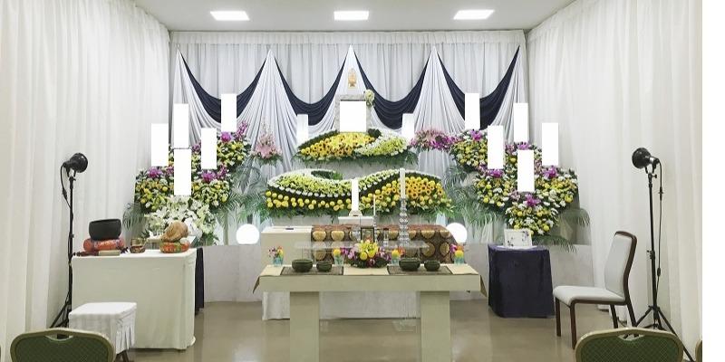 桐ヶ谷斎場 祭壇施行画像