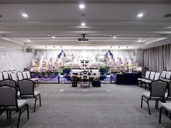 戸田葬祭場 光の間 式場内風景①
