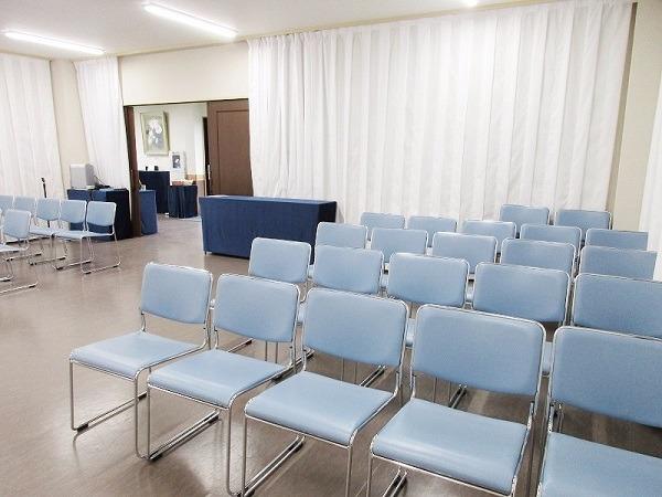 大泉橋戸会館 第一斎場 式場内風景②