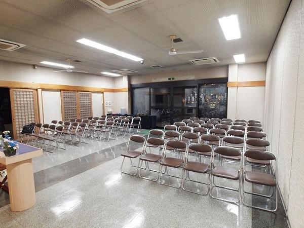 全龍寺 普門閣斎場 第一斎場 式場内風景②