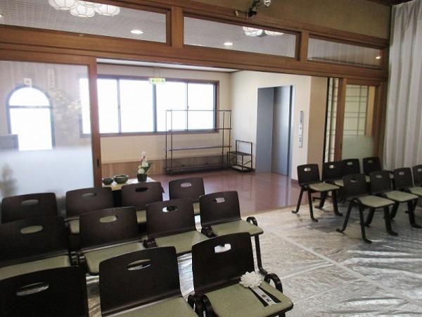 摩耶寺檀信徒会館 式場内風景①