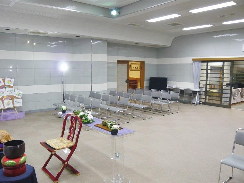 常楽院ホール 式場内部画像