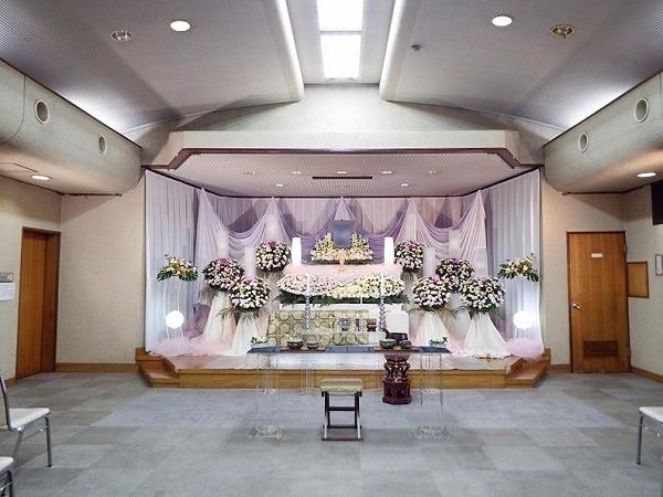 舟渡斎場 式場内風景①