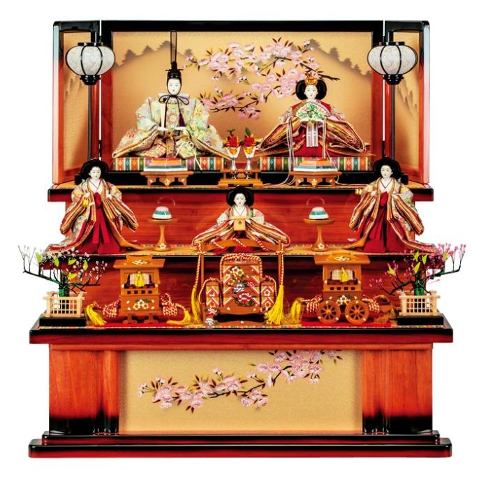 焼桐 花の宴五人飾り