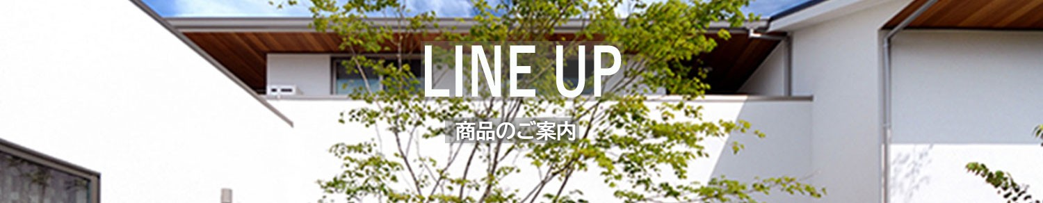 LINE UP商品のご案内