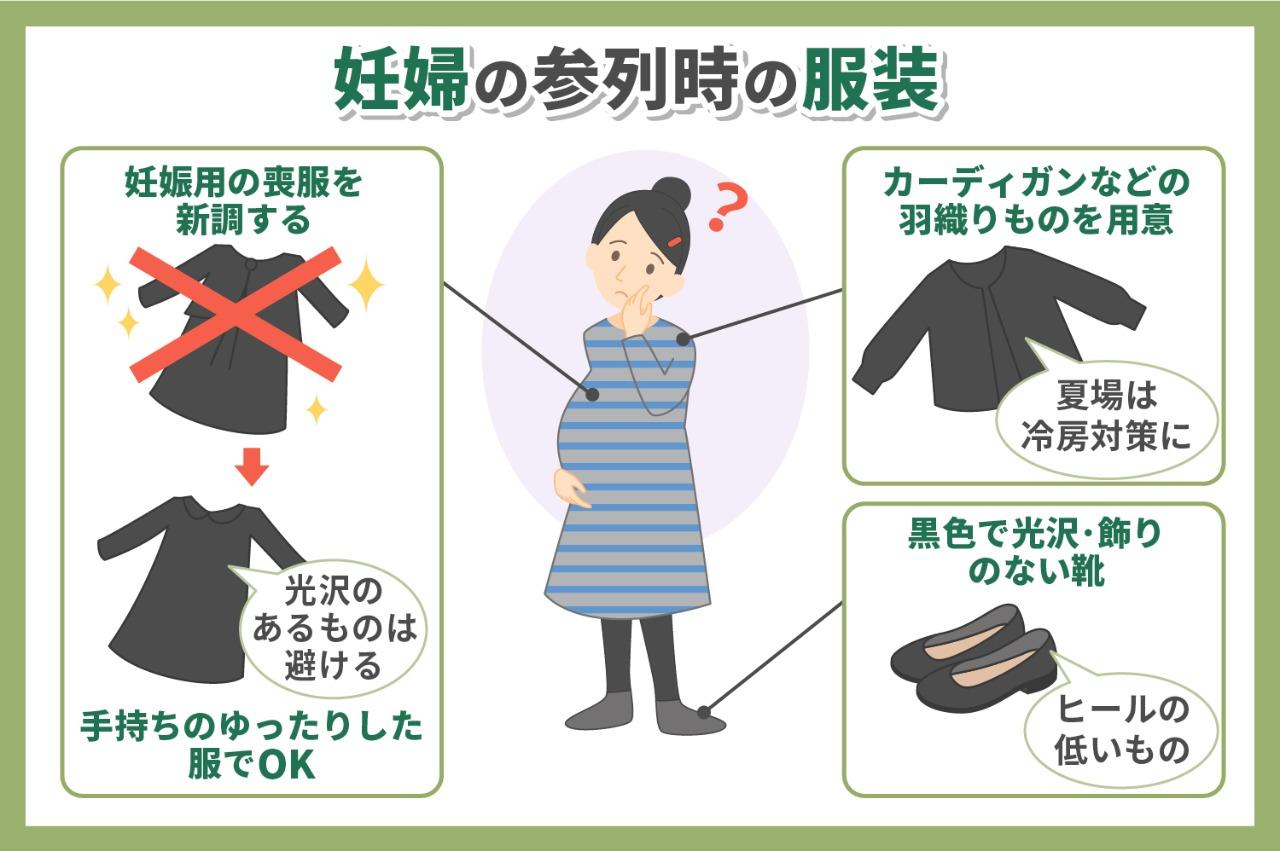 妊婦の参列時の服装