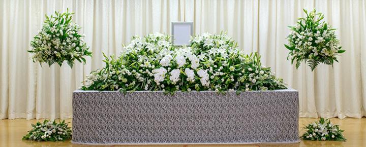 家族葬プラン110祭壇