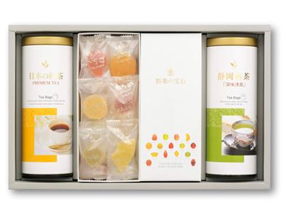 彩果の宝石・静岡煎茶・国産紅茶詰合せ